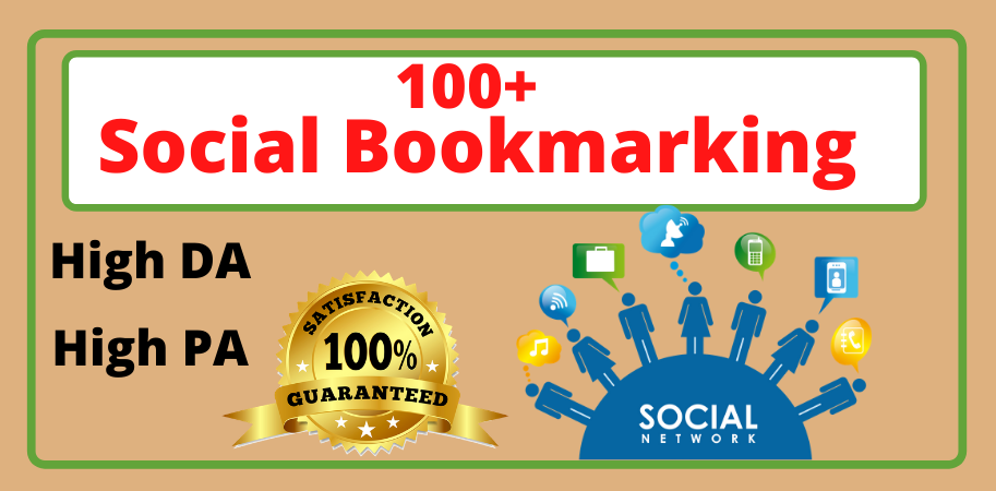 I will built 100 high quality social bookmarking backlinks