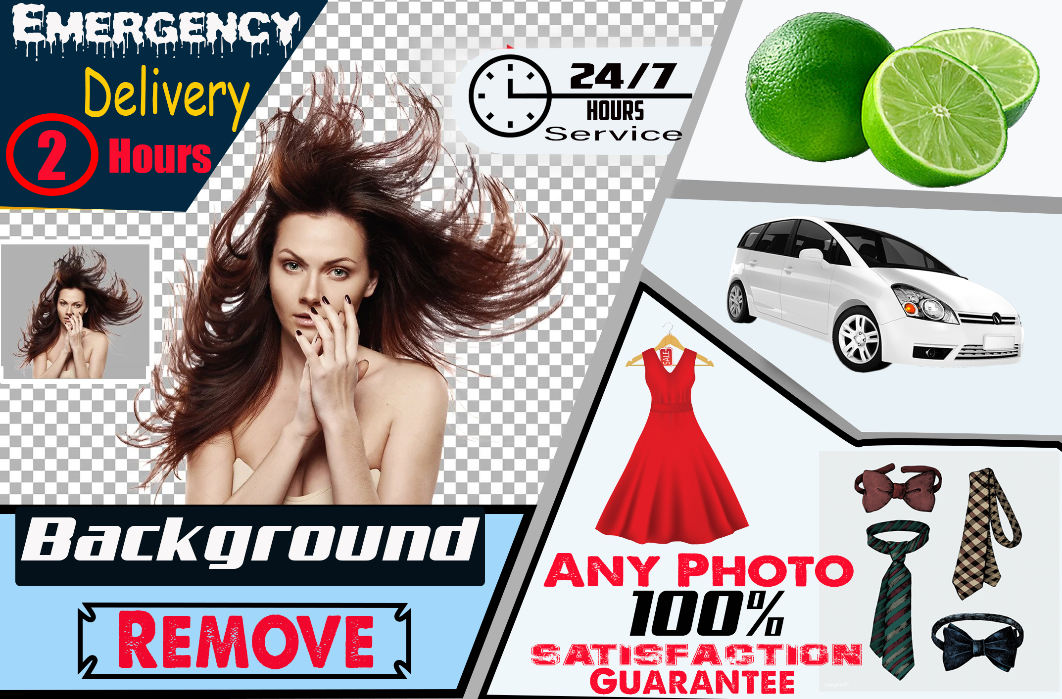 I will do background remove, retouch and resize your photo in 2 hour