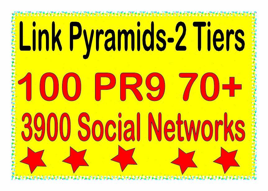 Powerful Multi-Tier - 200 Contextual PR9 DA70+ &. Web 2.0 blogs Tiered Backlinks For SEO