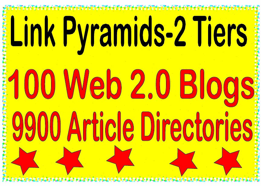Multi-Tiered - 10000 Contextual Web 2.0 blogs & Article directories Tiered Backlinks For SEO