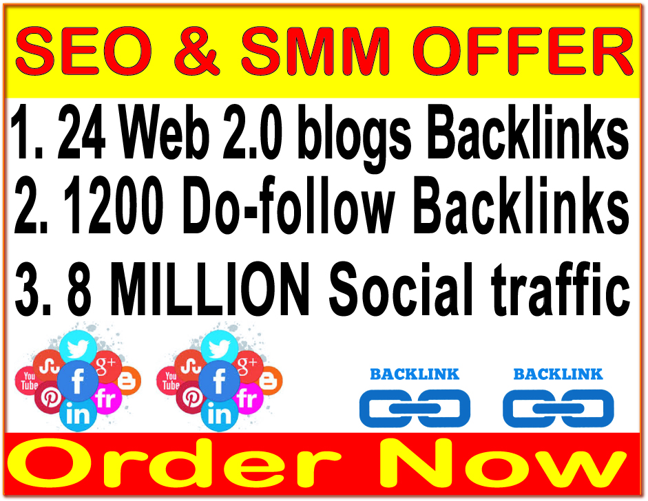 Google 1 Page Dominate 3 TIER - 24 Web 2.0 Blogs & 1200 Do follow & 8 Million Traffic