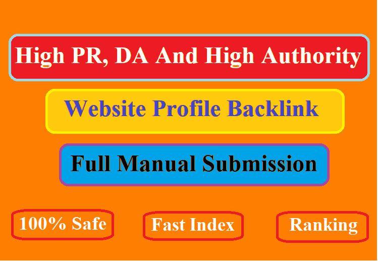 30 high da and pa profile creation backlinks