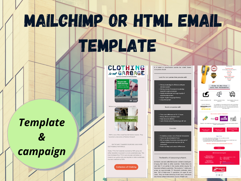 I will design unique mailchimp or html email template
