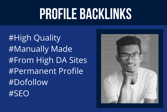 I will make 250 unique high quality dofollow SEO profile backlinks and link building