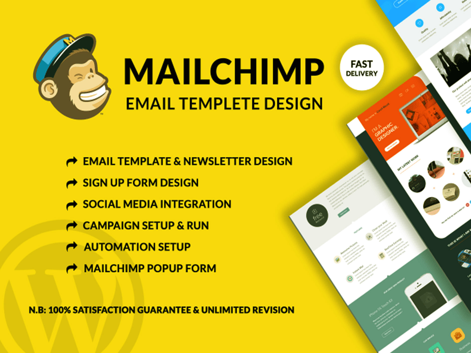 I will do creative mailchimp email template