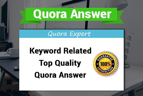 Provide Niche Relevant 50 HQ Quora Answer