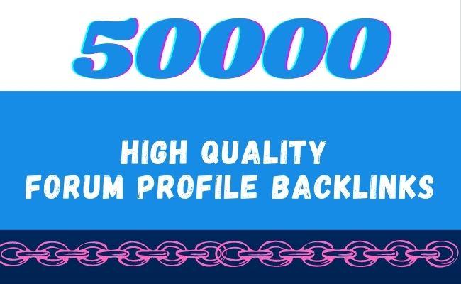 I will create high quality forum profile backlinks, forum posting