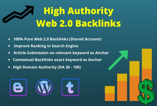 I will build 75 High Authority Web 2.0 backlinks