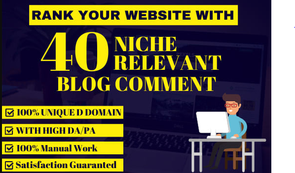 I will do 40 blog comments backlinks high seo service rank on google