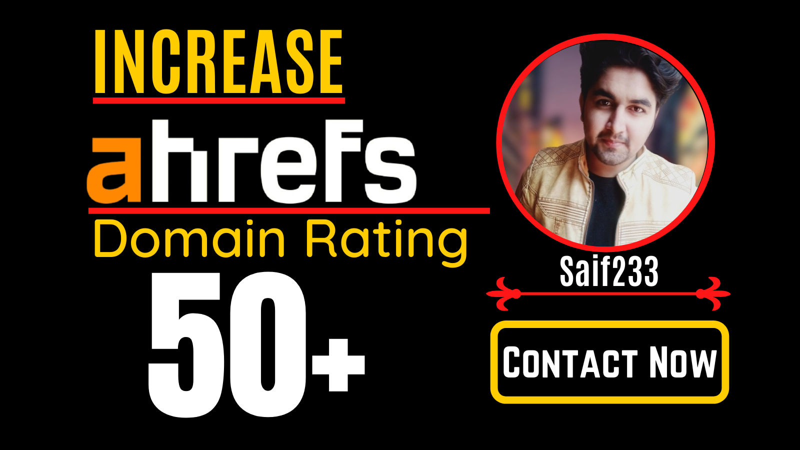 I will increase domain rating,  ahrefs DR 50 plus with white hat SEO