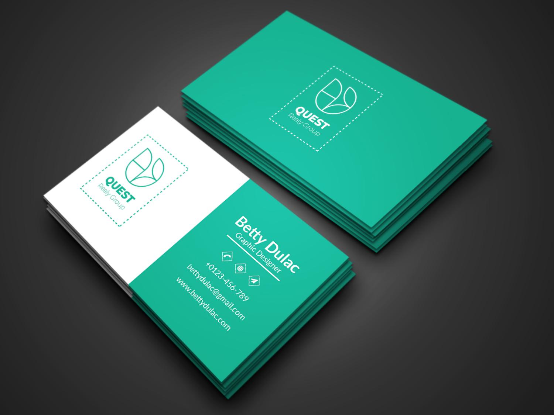 I will do a modern minimalist corporate business card design