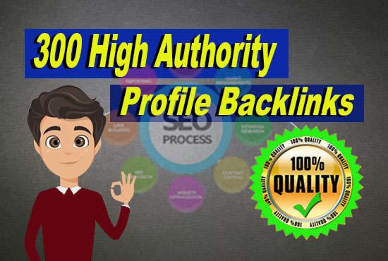 High authority profile backlinks,  doffollow and forum works