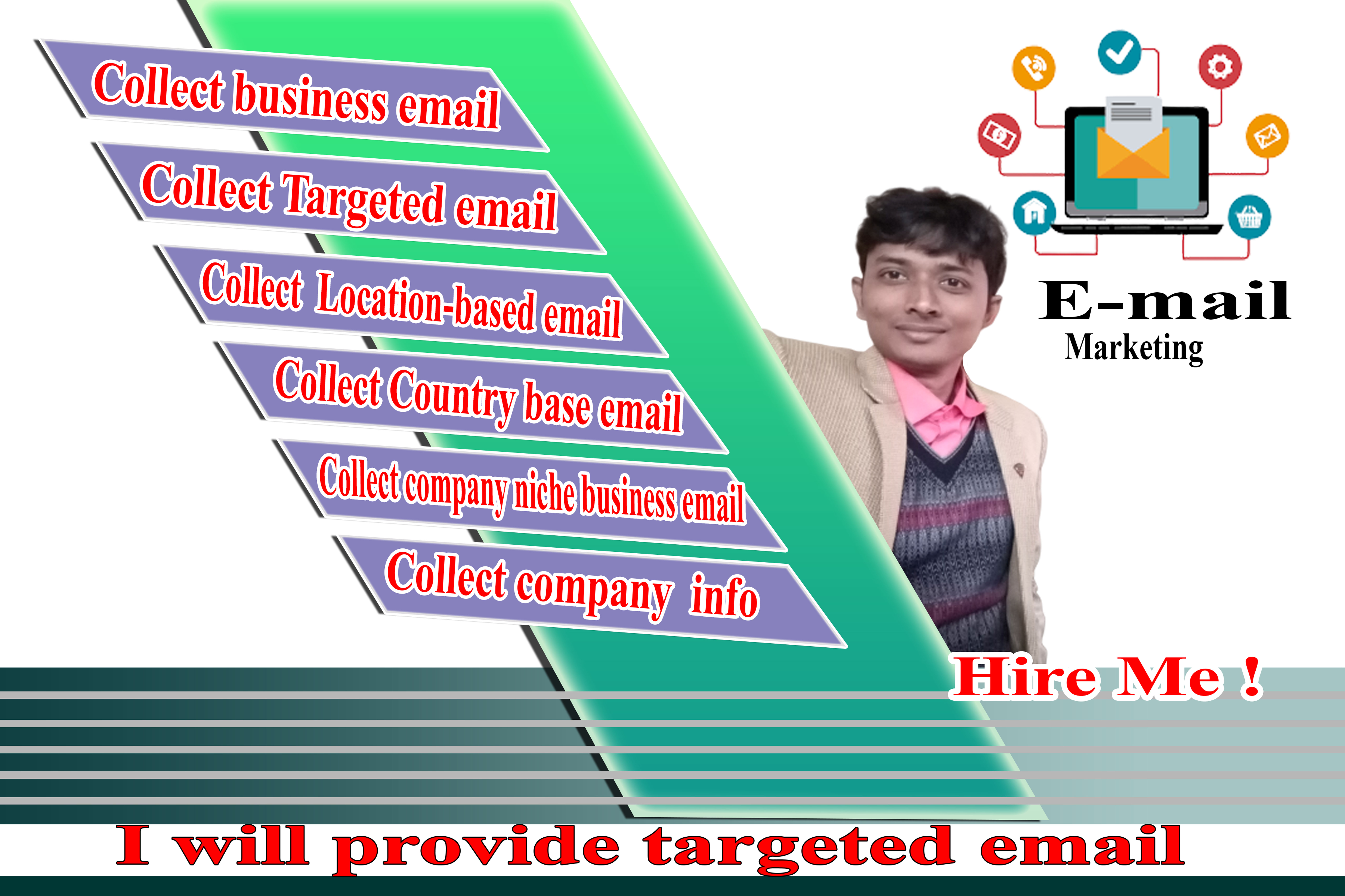 I Will collect email list web research for your business