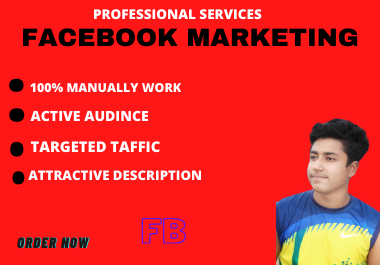 I will do organic facebook marketing for your any business worldwide