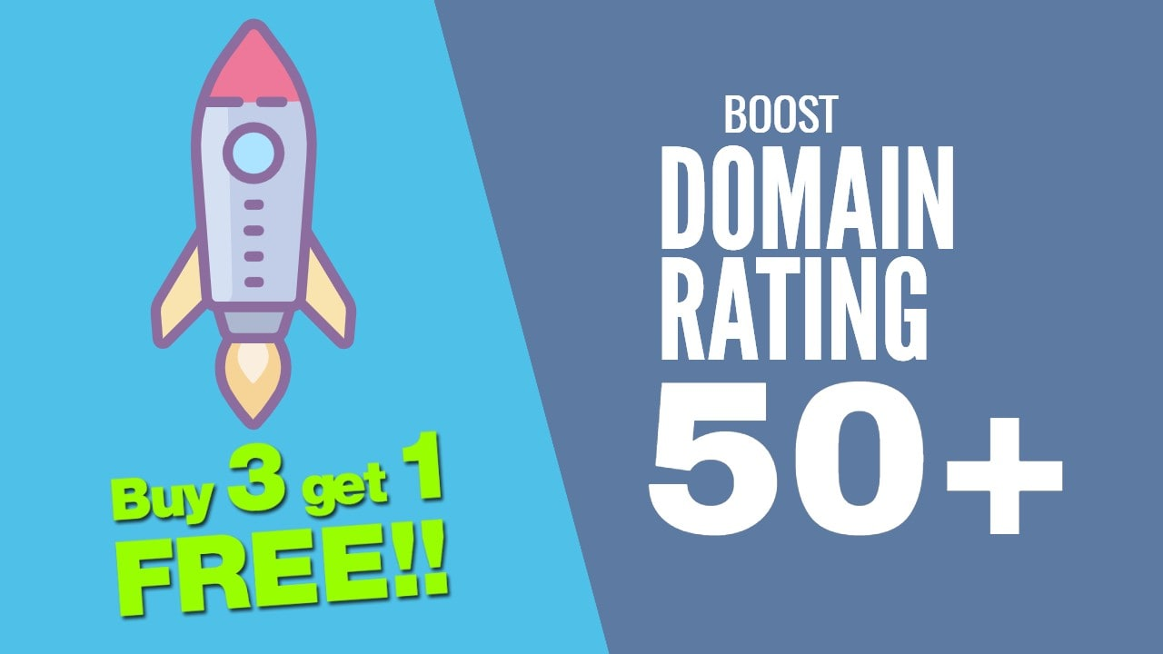 increase your domain rating DR 50 plus with seo authority backinks