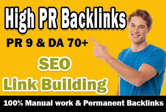 I will create high PR white hat seo backlinks,  link building
