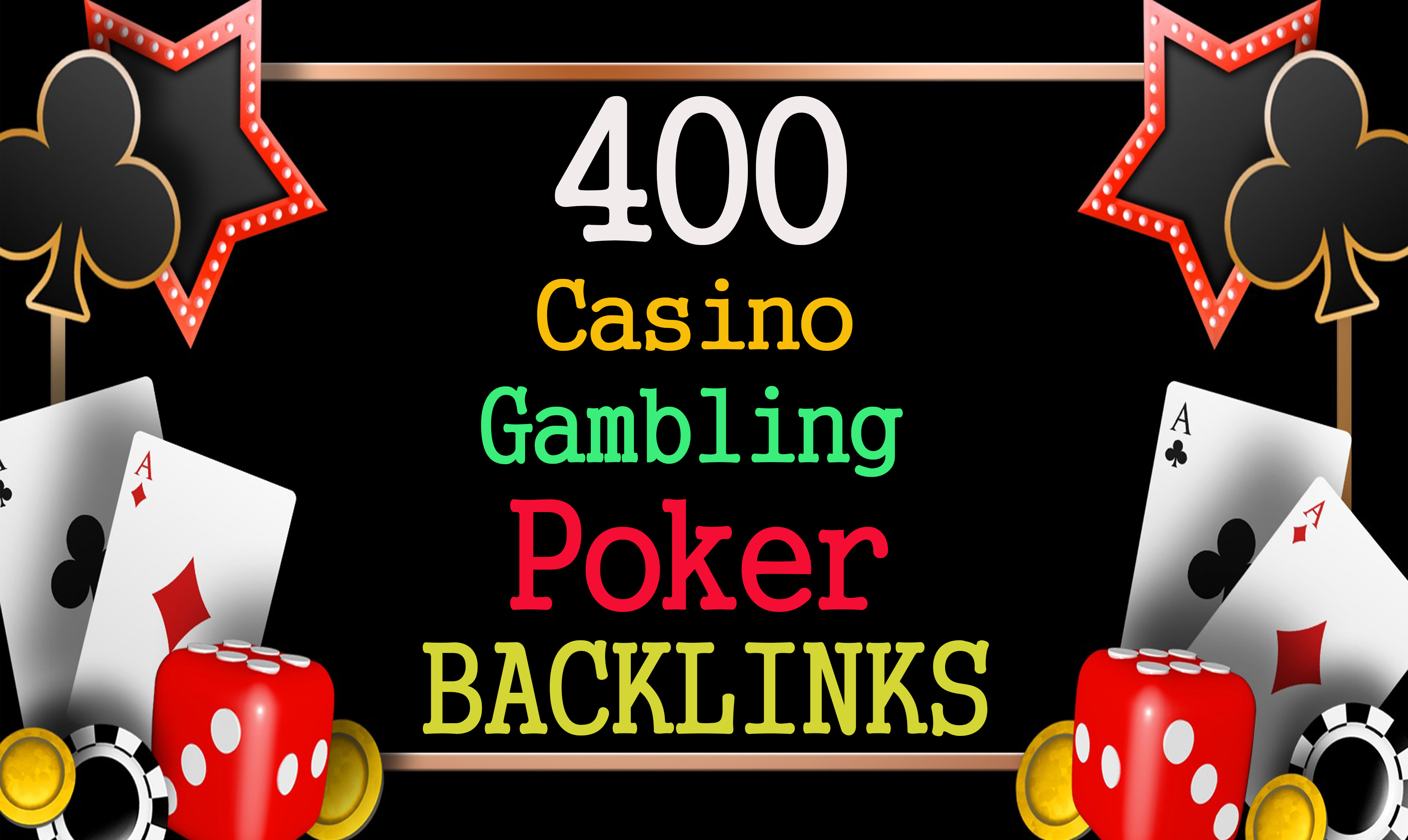 Permanent 400 powerful Casino,  Gambling,  Poker,  Sports High Quality Web2.0 Backlinks