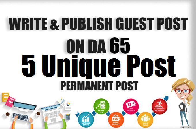 Write & Publish 5 High DA guest post