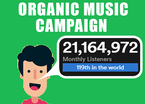 Integrated monthly listeners music camapign to boost audience thorugh SEO