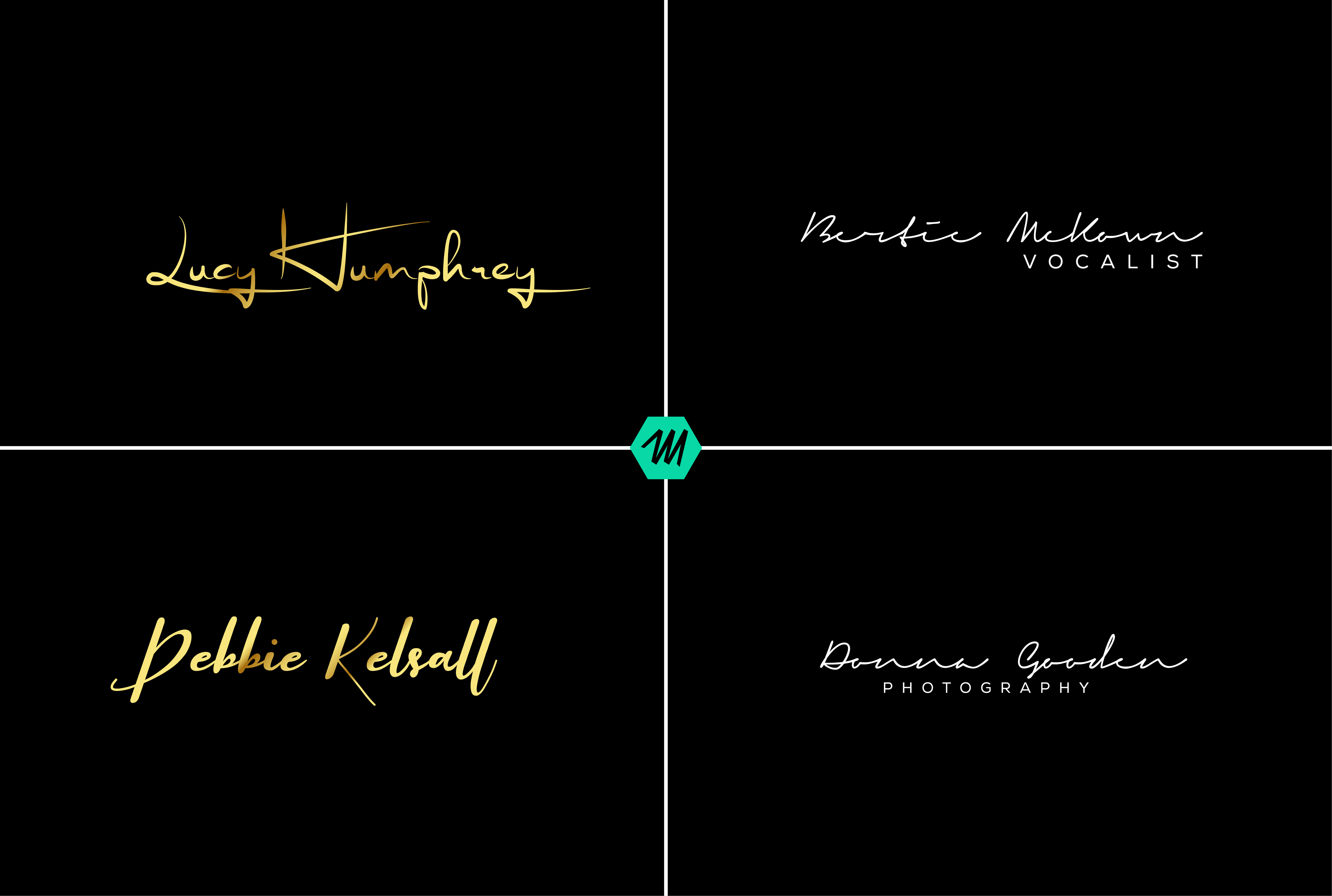 I will design creative professional signature logo for you in 24 hours