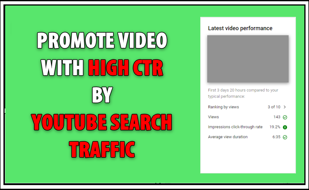 Youtube Video Promote With High CTR
