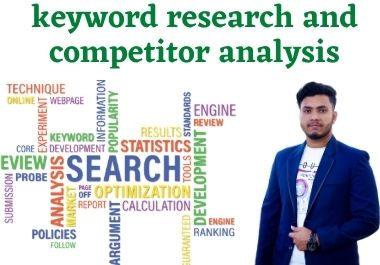 you will get premium keyword research and competitor analysis