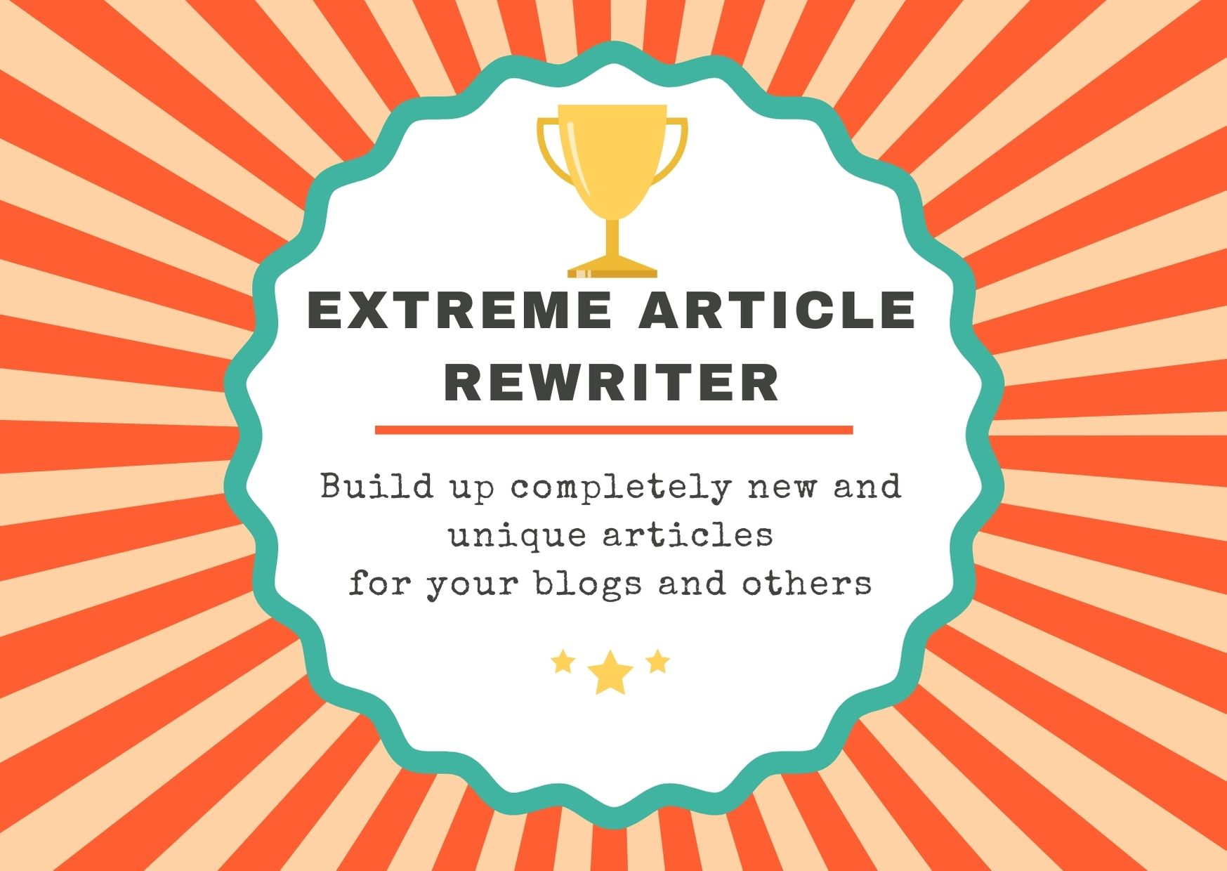 Xtreme Article Rewriter- Build up a completely new and unique articles