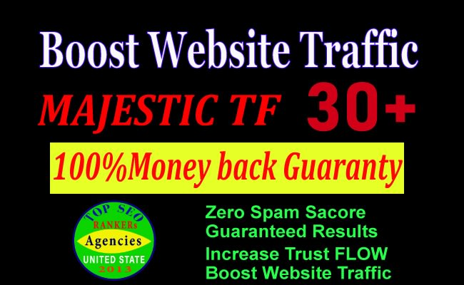 increase majestic trust flow 35 plus for boost web traffic