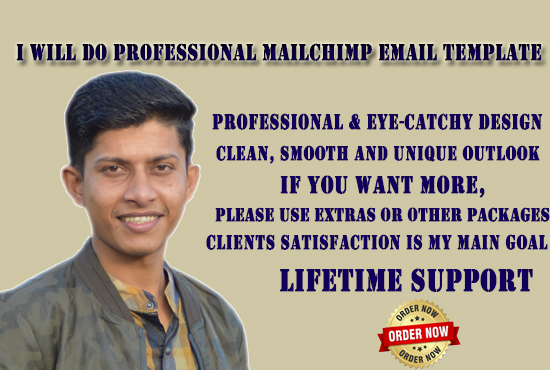 I will do professional mailchimp email template newsletter.