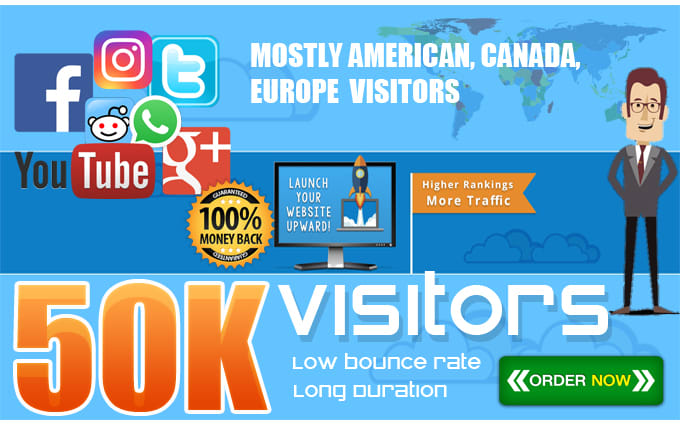 I will drive 50,000 real USA visitors to your website