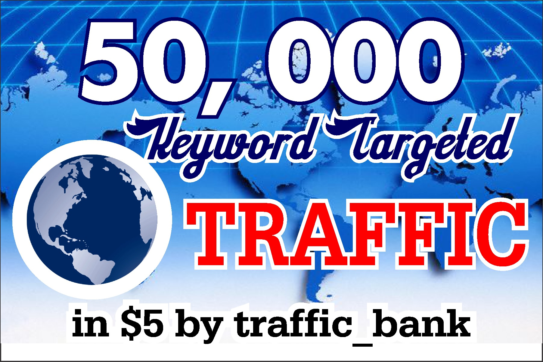 I will send 50K USA organic and targeted traffic