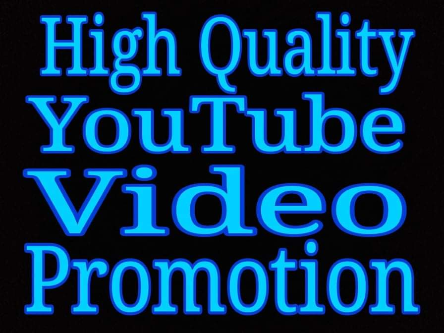 High quality Youtube video promotion via real users with fast delivery