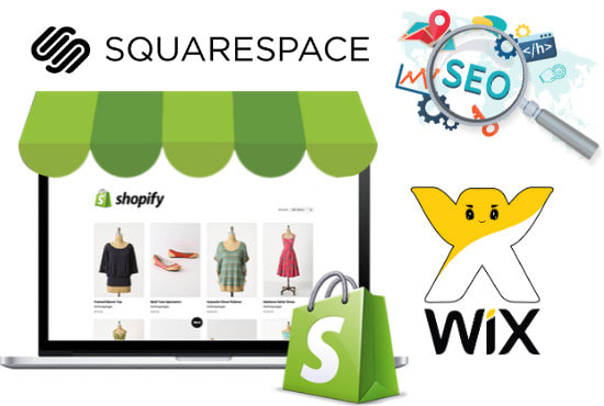 SEO for wix,  squarespace or shopify store to boost google ranking