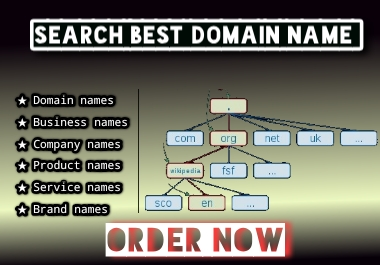 I will Expert in unique domain name serch for Website.