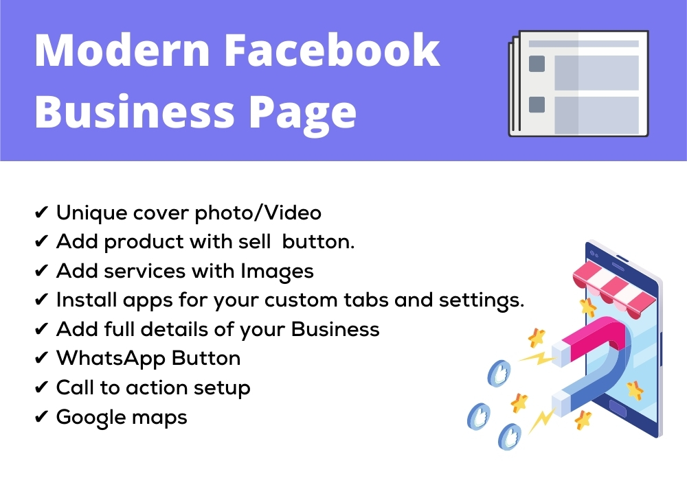 I will create Professional Facebook business page and seo optimize