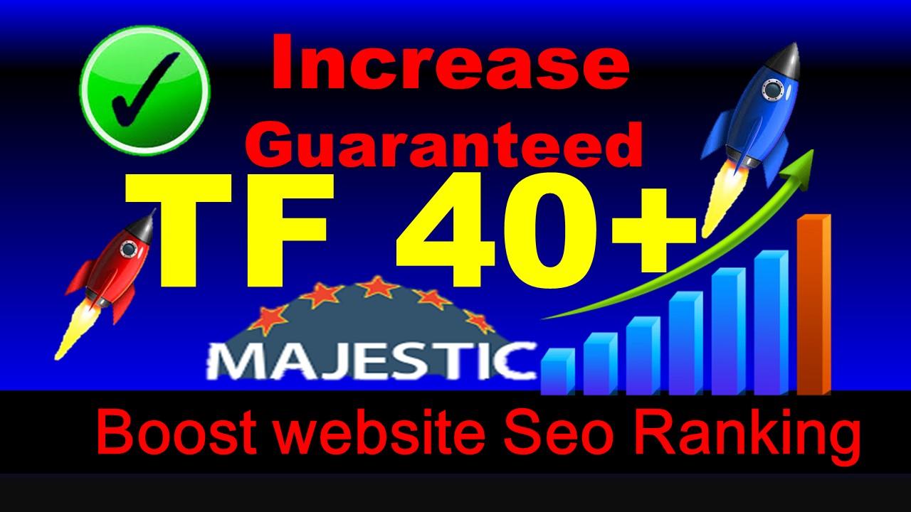 increase majestic trust flow TF 30 plus in 10 days Guaranteed