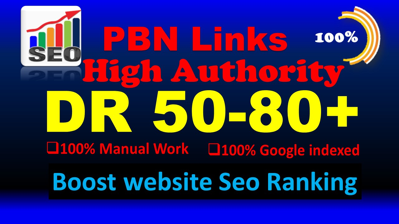 I will make 35 DR 50 to 80 high quality dofollow seo backlinks