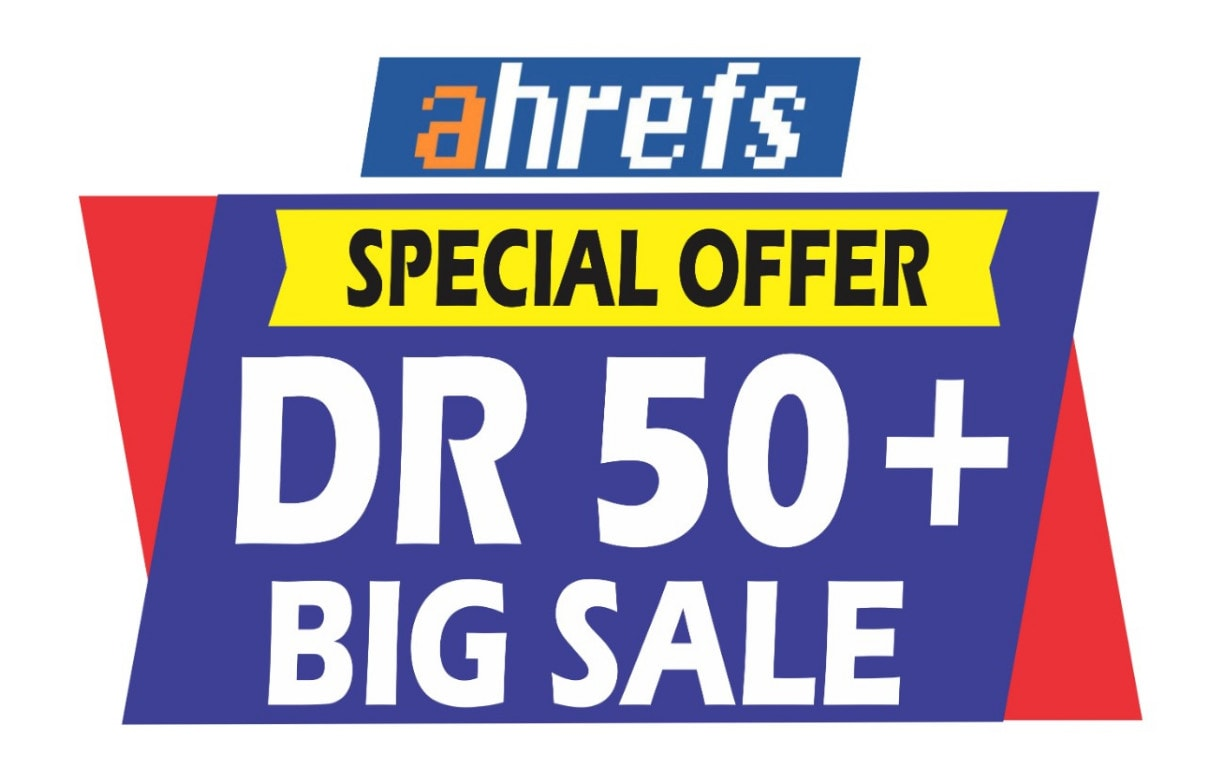 I will increase your website ahrefs domain rating DR 50+