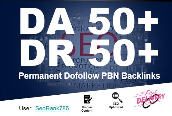 Build 15 DA/DR 50+ SEO PBNs Post Backlinks to Rank 1 Guaranteed