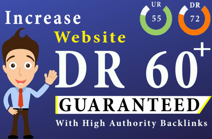 I will increase DR domain rating to 50 plus with-out redirect links