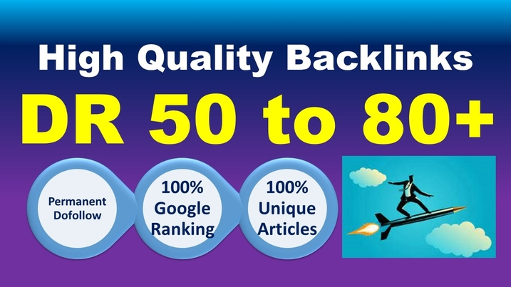 I will make 40 high dr SEO backlinks white hat manual link building service high ranking