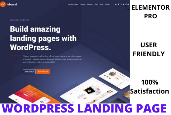 I Will Design An Eye-Catching WordPress Landing Page