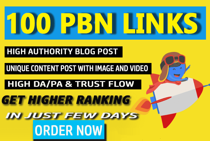 I will build 100 pbn backlinks with trust flow