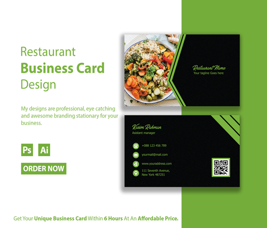 I will design unique business card for you within 6 hours