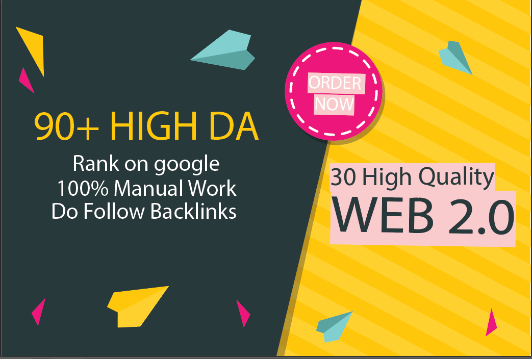 I will build 30 High Quality WEB 2 0 Backlink With Unique Article