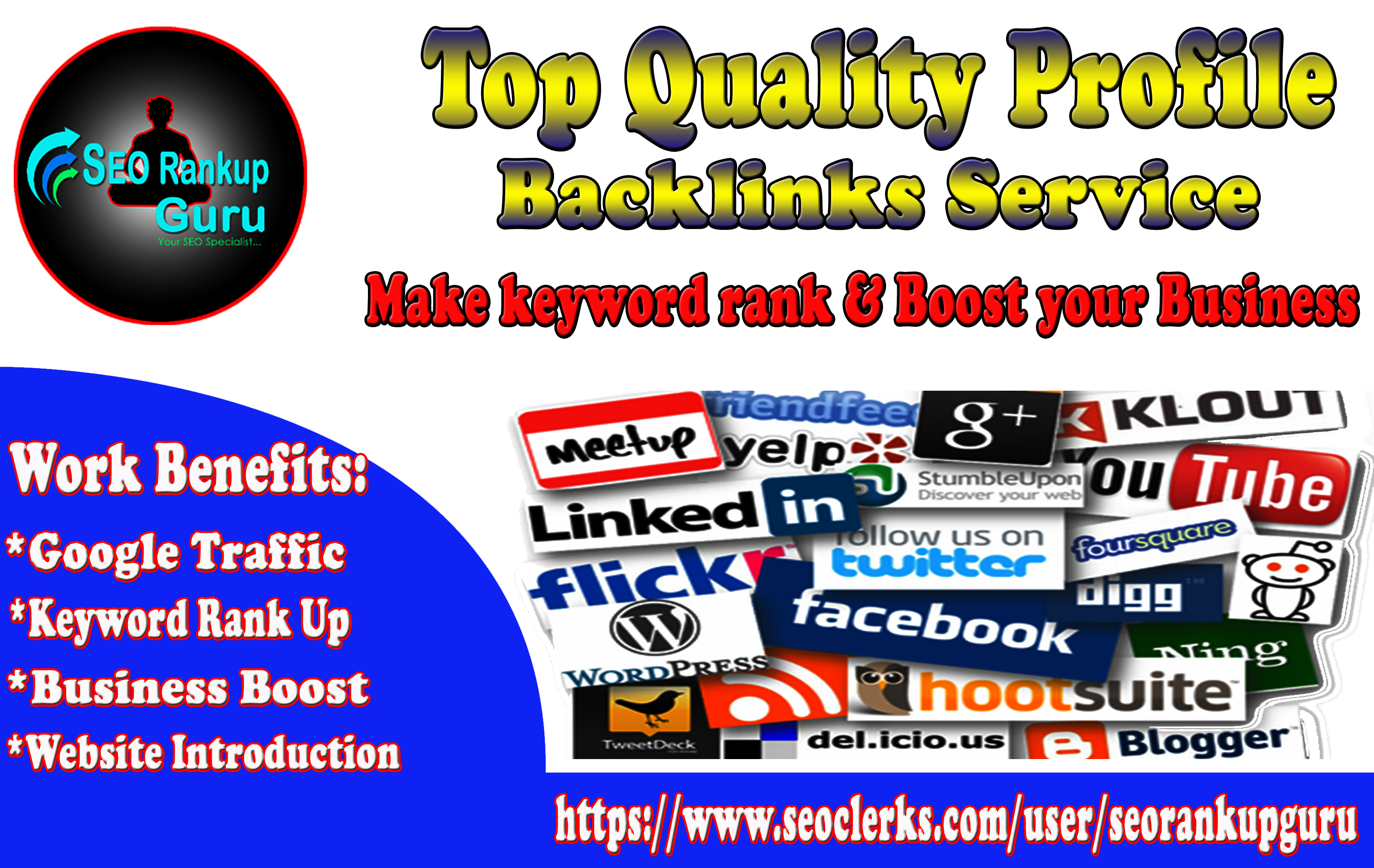 Top 30 High DA Profile Backlinks Service For Website & GMB Rank Up