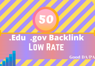 I will provide powerful website backlinks from edu gov sites