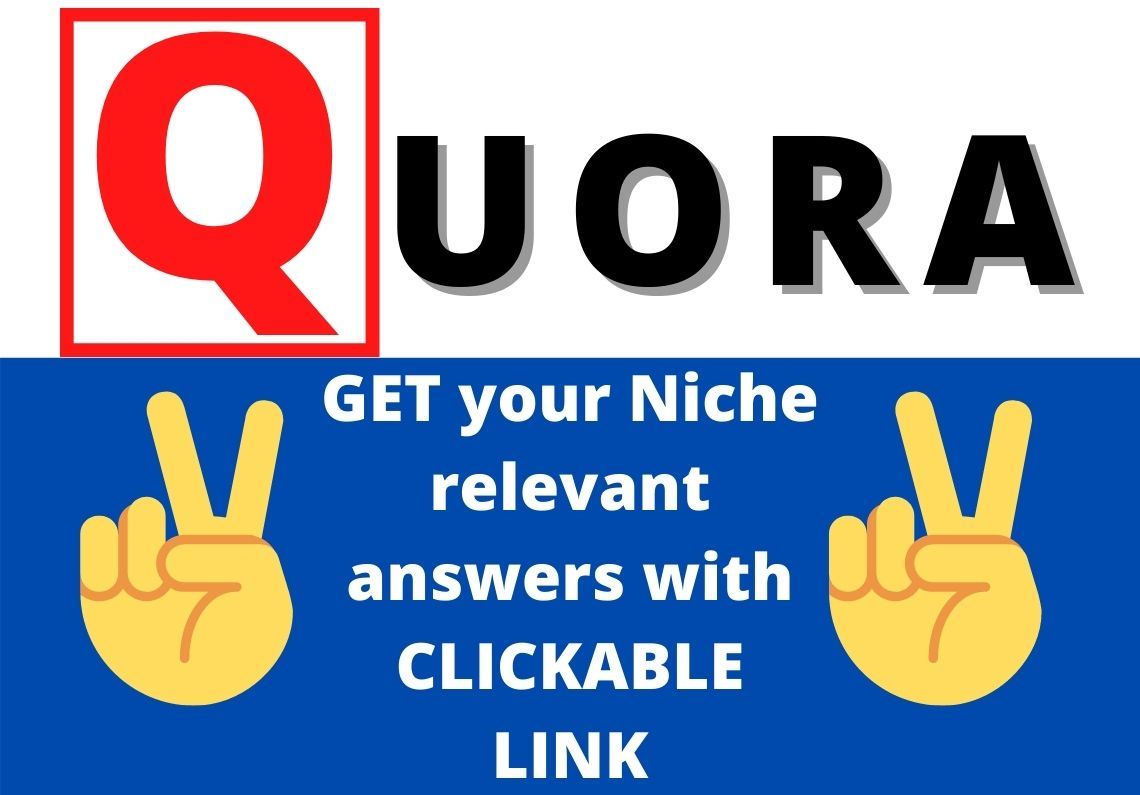 Promote your website with niche relevant 2 HQ Quora answers