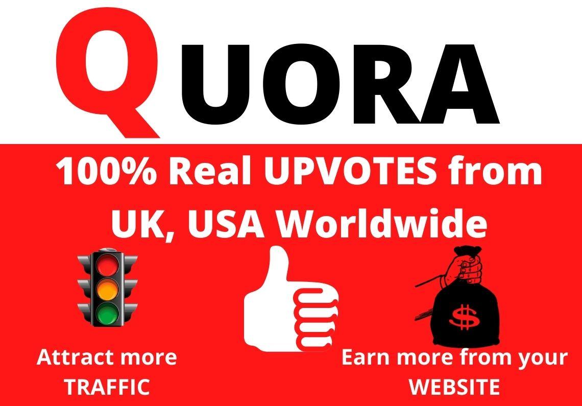 Instant Provide 33+ Worldwide Quora Upvote