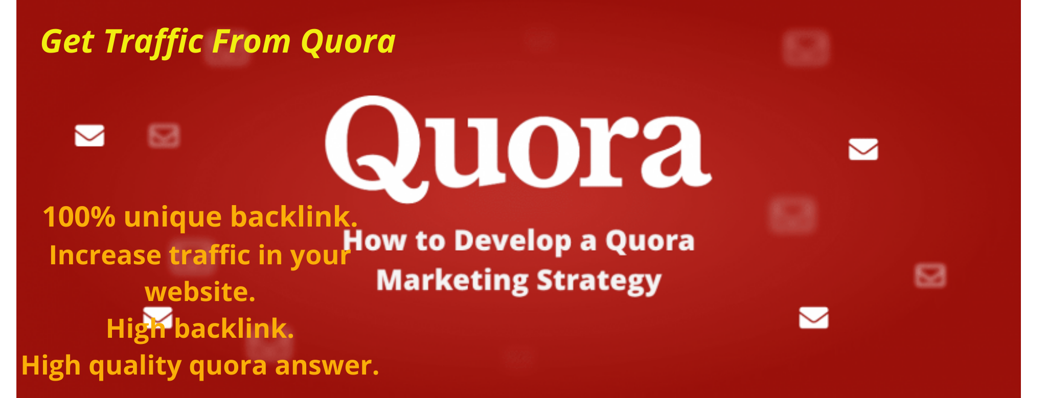 20 high quality Quora Answers With Guaranteed Traffic in your Website